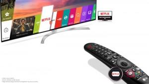TV UHD LG dengan Netflix hot key Remote